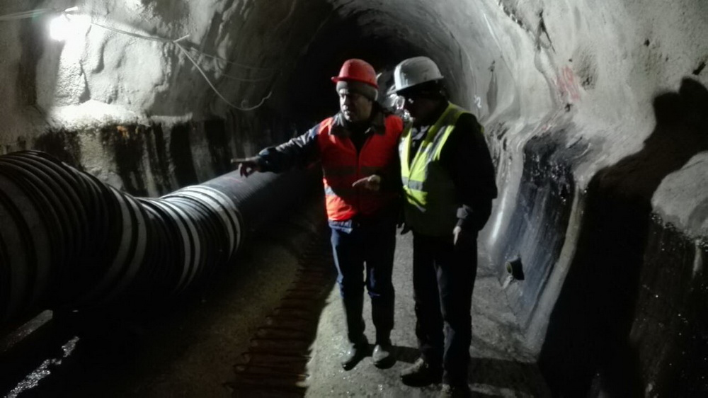 Repair of a return channel at Saska river, Sasa Mine, M. Kamenica
